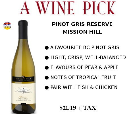 pinot gris mission hill wine