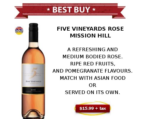 MISSION HILL - FIVE VINEYARDS ROSE WINE