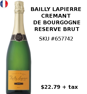CREMANT DE BOURGOGNE SPARKLING WINE