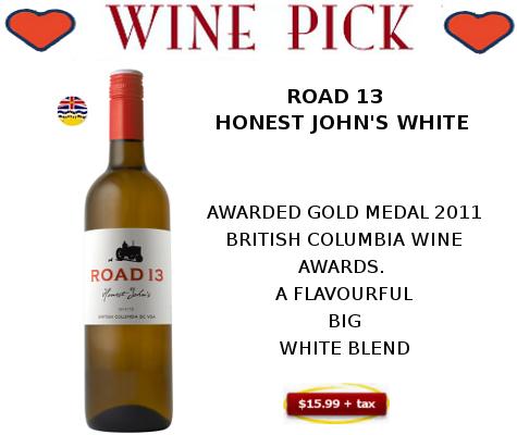 road 13 honest johns white wine