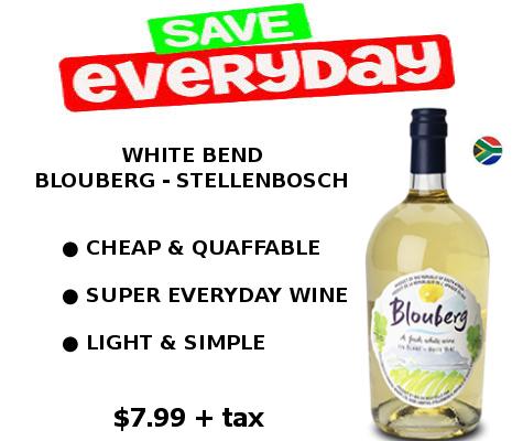 blouberg white wine