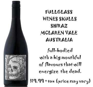 Fullglass wines skulls Shiraz