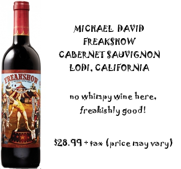 freakshow cabernet suavignon red wine