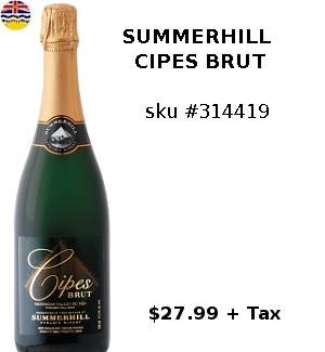 summerhill cipes brut sparkling wine