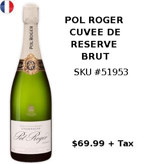 pol roger cuvee de reserve champagne
