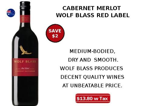 cabernet merlot wolf blass red wine