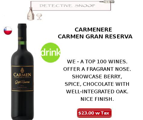 carmenere carmen grand reserva wine