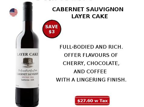 cabernet sauvignon layer cake